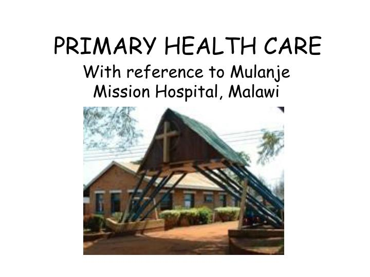 primary health care n.