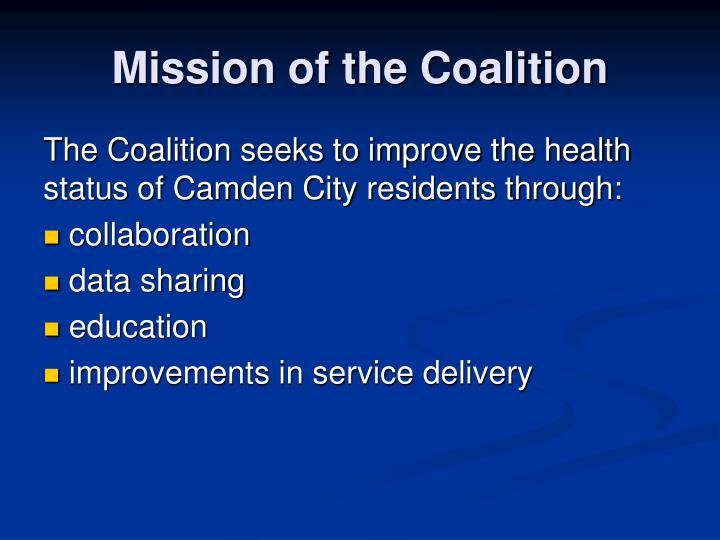 Mission of the Coalition