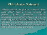 mmh mission statement