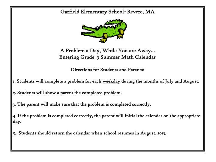 Garfield Elementary School- Revere, MA