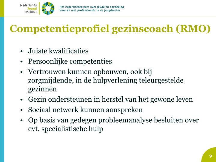 Competentieprofiel gezinscoach (RMO)