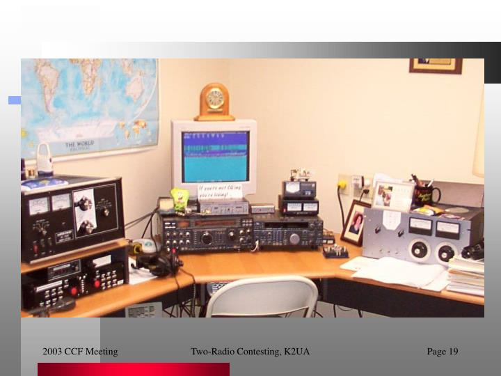 Two-Radio Contesting, K2UA