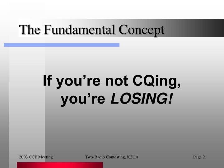 The fundamental concept