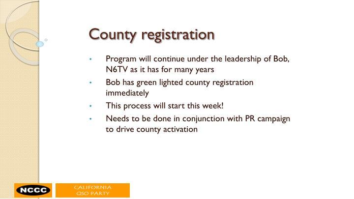 County registration