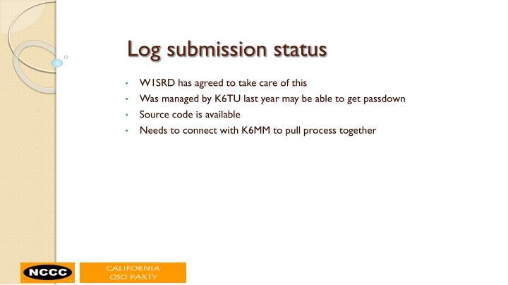 Log submission status