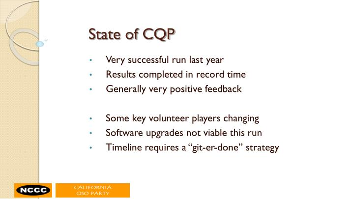 State of CQP