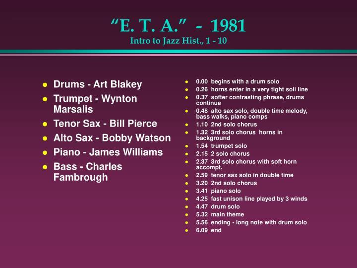 Drums - Art Blakey
