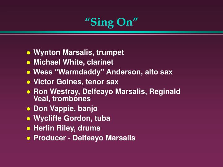 """""""Sing On"""""""