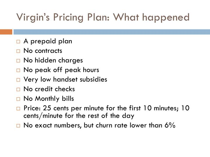 Virgin's Pricing Plan: What happened