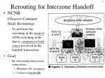 rerouting for interzone handoff