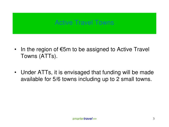 Active travel towns