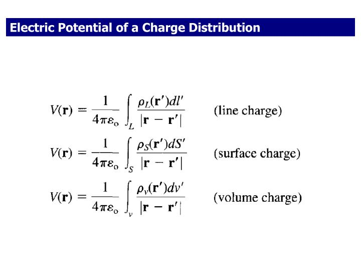 Electric Potential of a Charge Distribution