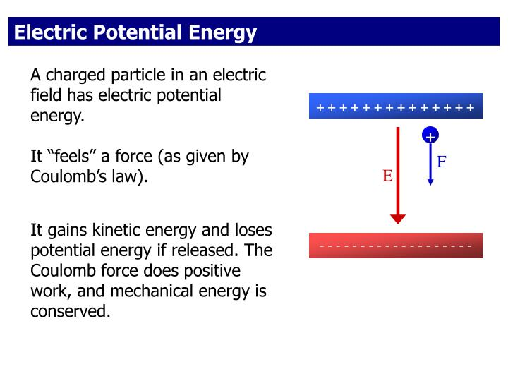 Electric potential electric potential energy