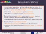 our problem statement