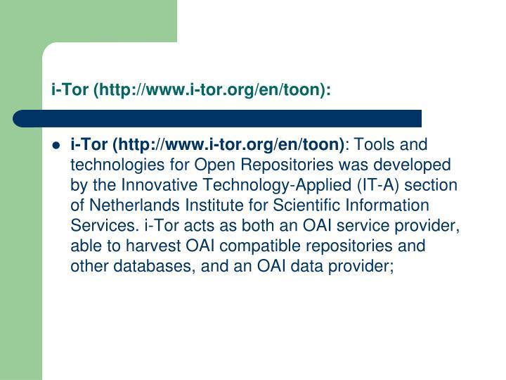 i-Tor (http://www.i-tor.org/en/toon):
