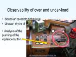 o bservability of over and under load
