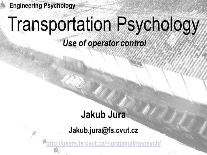 transportation psychology