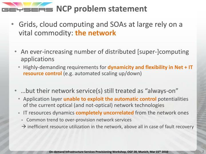 Ncp problem statement