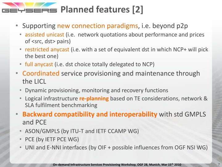 Planned features [2]