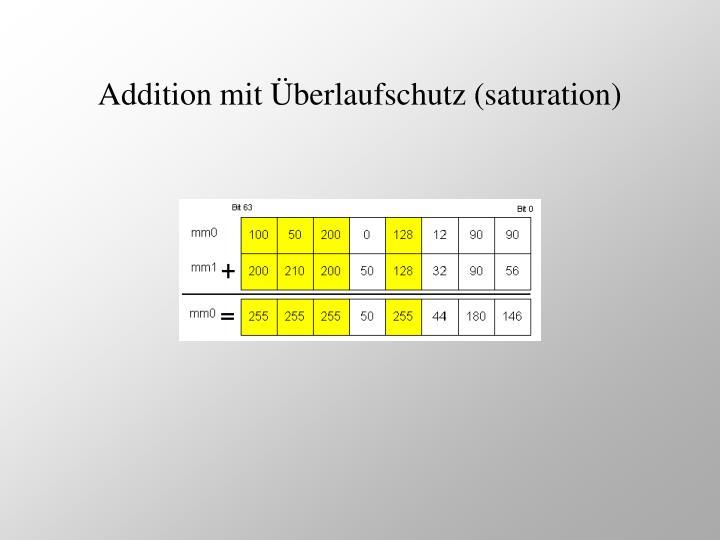 Addition mit Überlaufschutz (saturation)