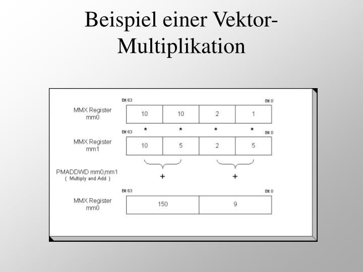 Beispiel einer Vektor-Multiplikation