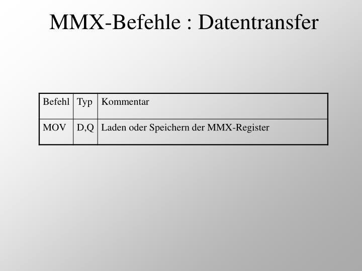 MMX-Befehle : Datentransfer