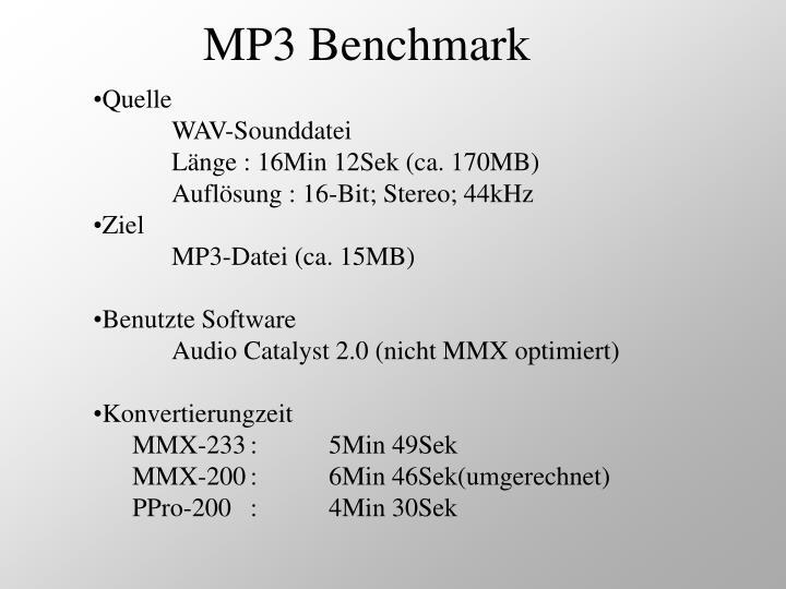 MP3 Benchmark