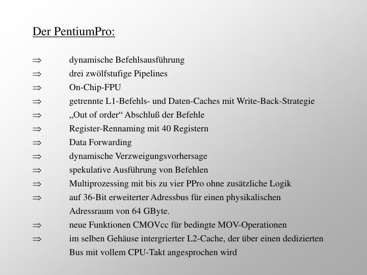 Der PentiumPro: