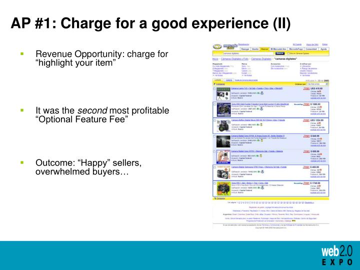 AP #1: Charge for a good experience (II)