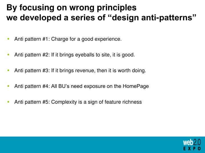 By focusing on wrong principles