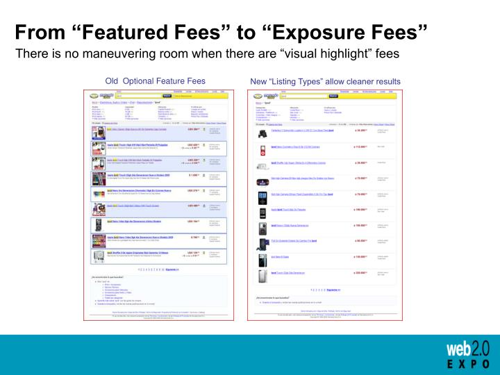 """From """"Featured Fees"""" to """"Exposure Fees"""""""