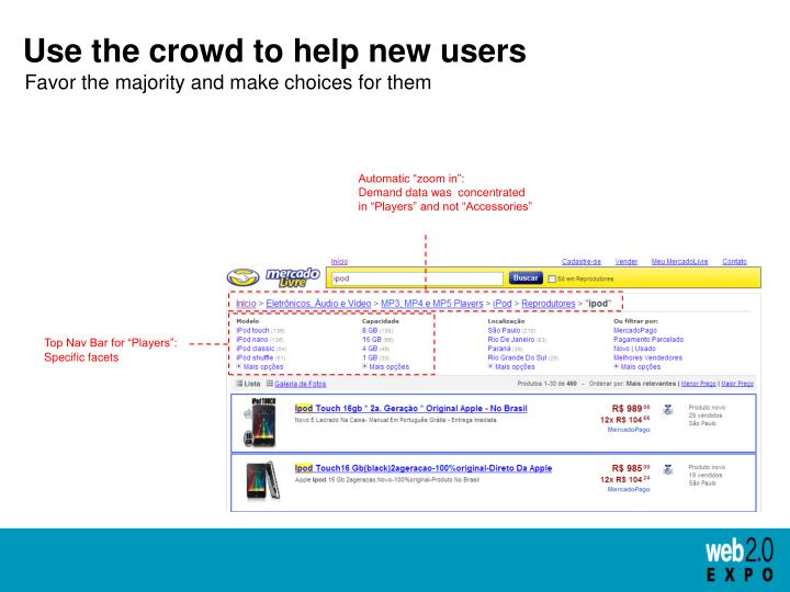 Use the crowd to help new users