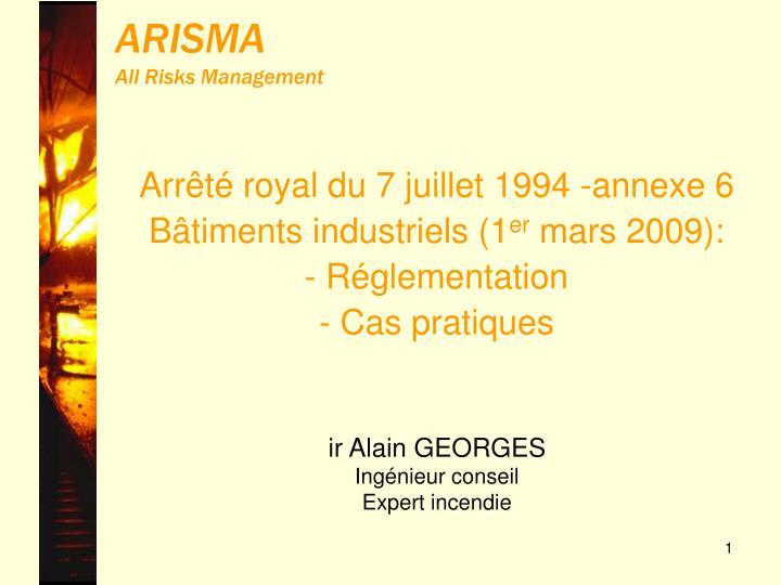 arisma all risks management n.