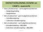 dienstverlening ocmw en caw s overzicht1