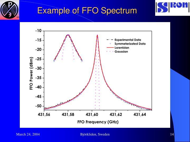 Example of FFO Spectrum