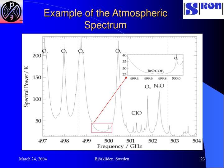 Example of the Atmospheric Spectrum