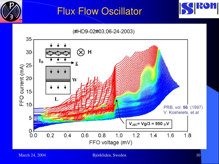 Flux Flow Oscillator