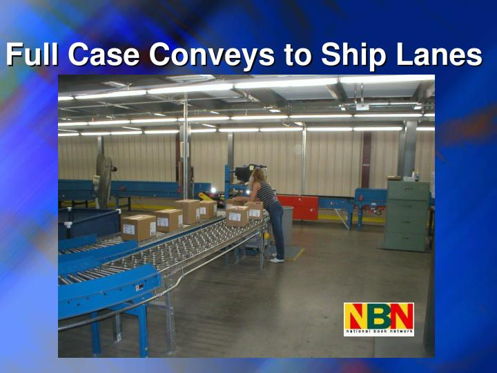 Full Case Conveys to Ship Lanes