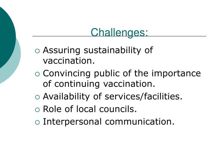 Challenges: