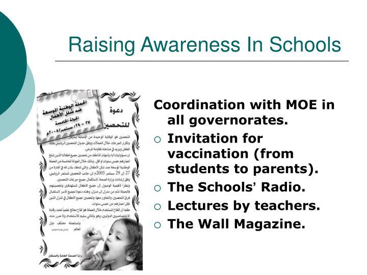 Raising Awareness In Schools