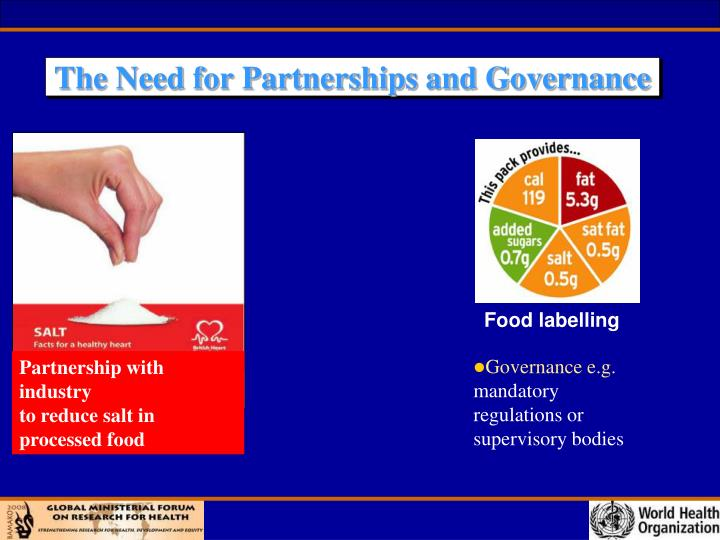The Need for Partnerships and Governance