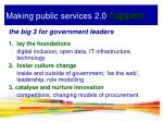 making public services 2 0 happen