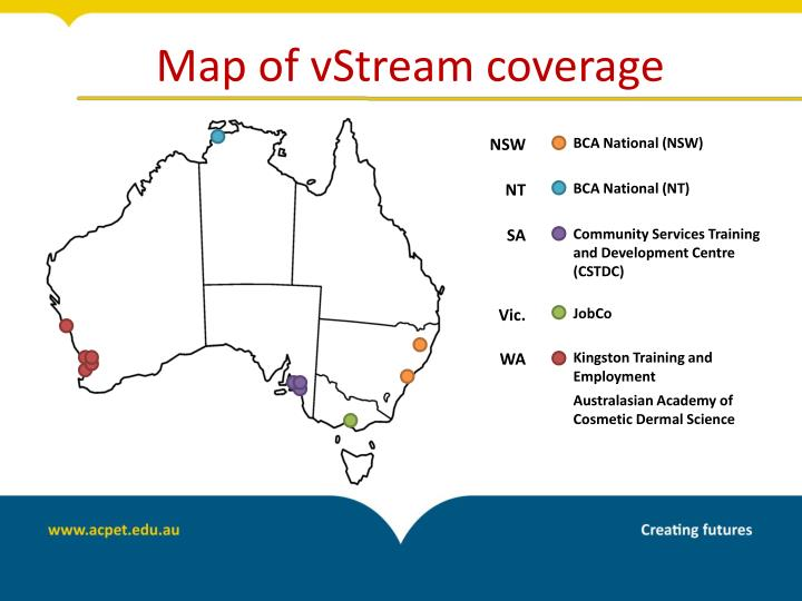 Map of vStream coverage