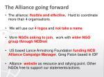 the alliance going forward