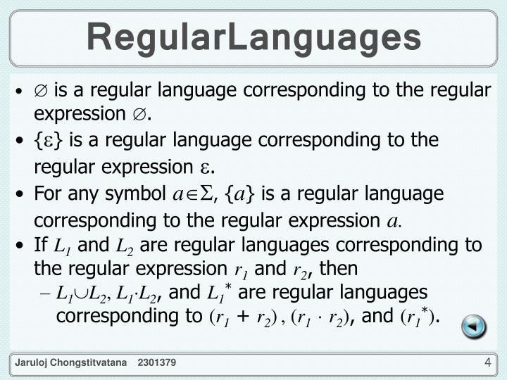 RegularLanguages