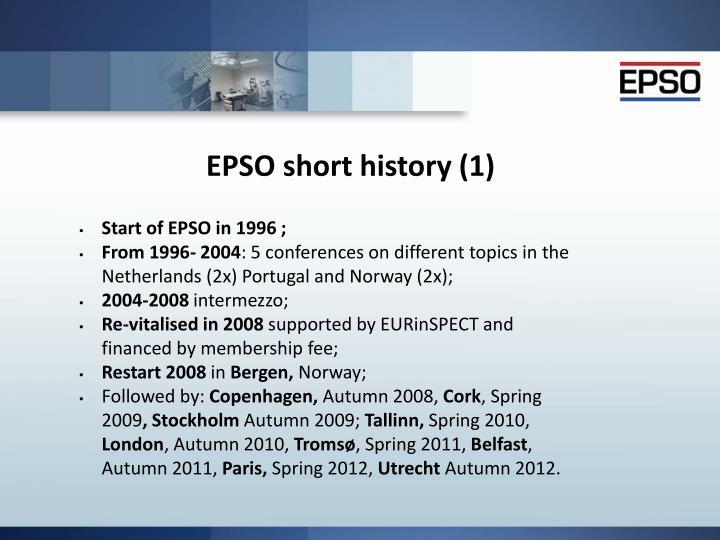 Epso short history 1