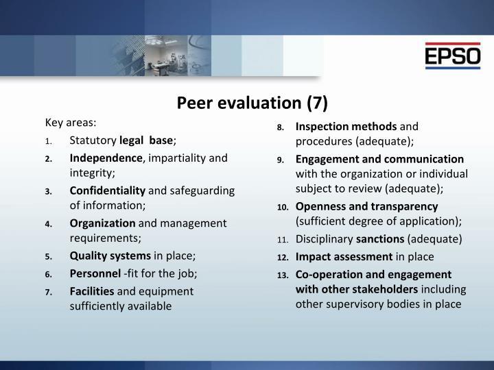 Peer evaluation (7)