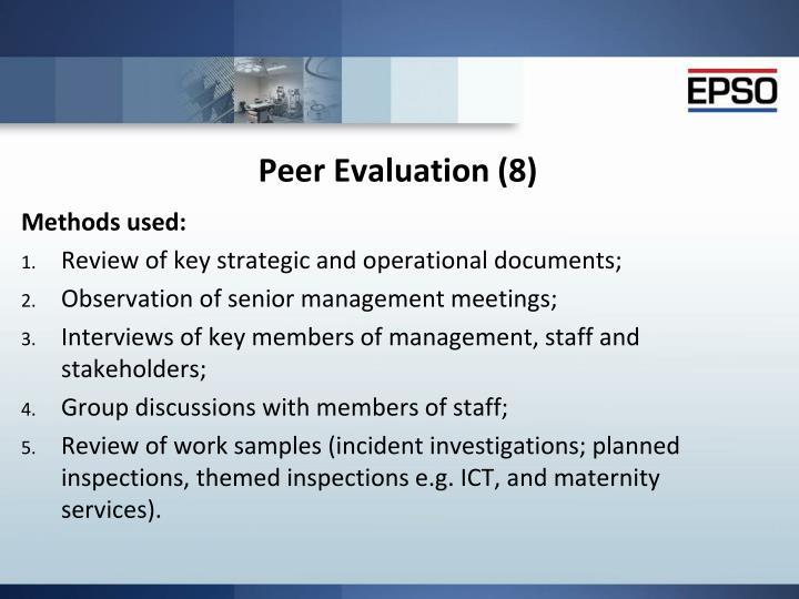 Peer Evaluation (8)