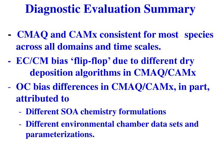Diagnostic Evaluation Summary