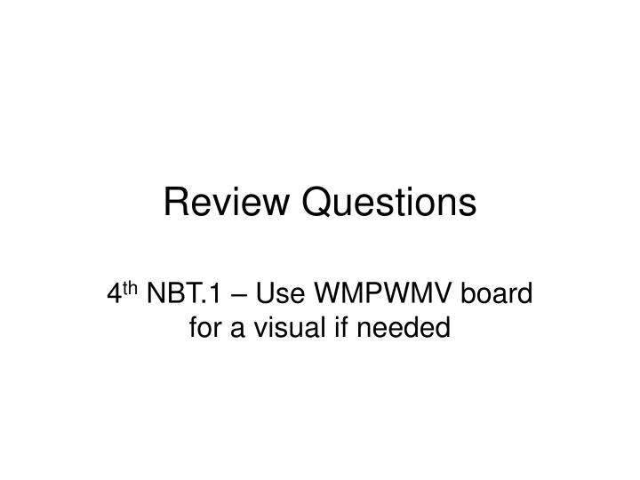 review questions n.